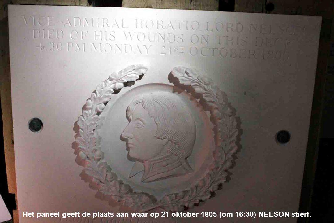 Op deze plaats werd NELSON dodelijk gewond door een Franse sluipschutter