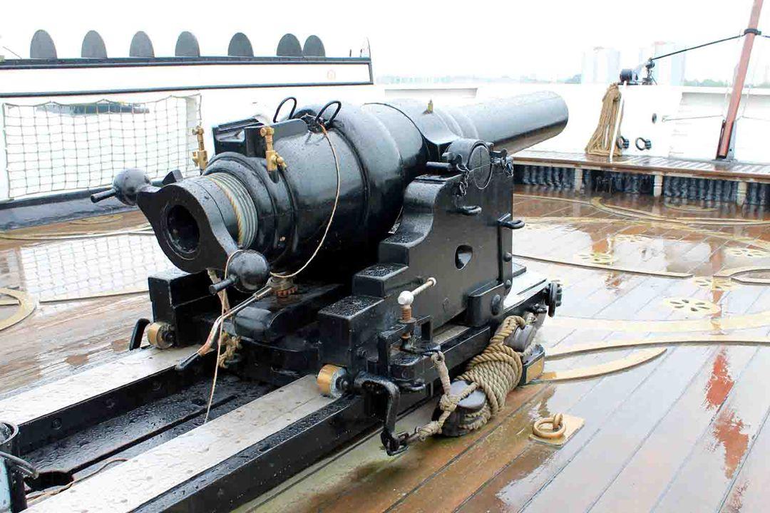 HMS Warrior 1860 - Zeilen met stoom aandrijving