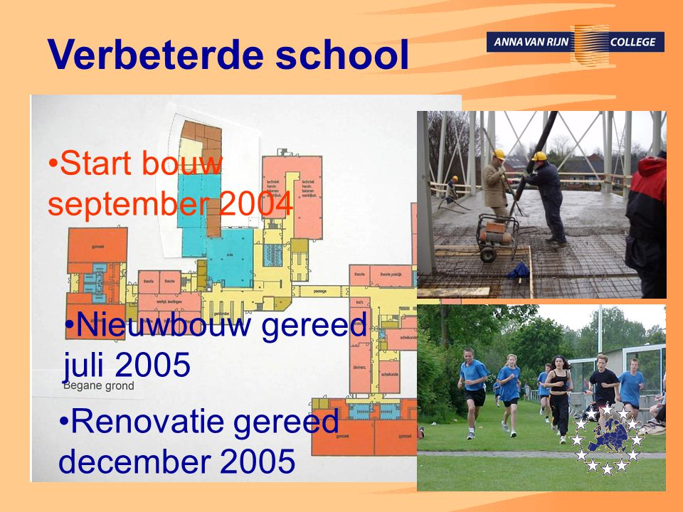 Verbeterde school Onderbouwgebouw en Bovenbouwgebouw •Eigen thuis voor onderbouw •Meer rust op de gang