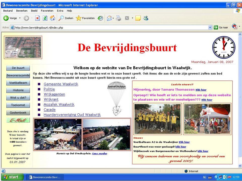 En als laatste heeft Het Comité een website over de buurt online gezet. www.bevrijdingsbuurt.nl