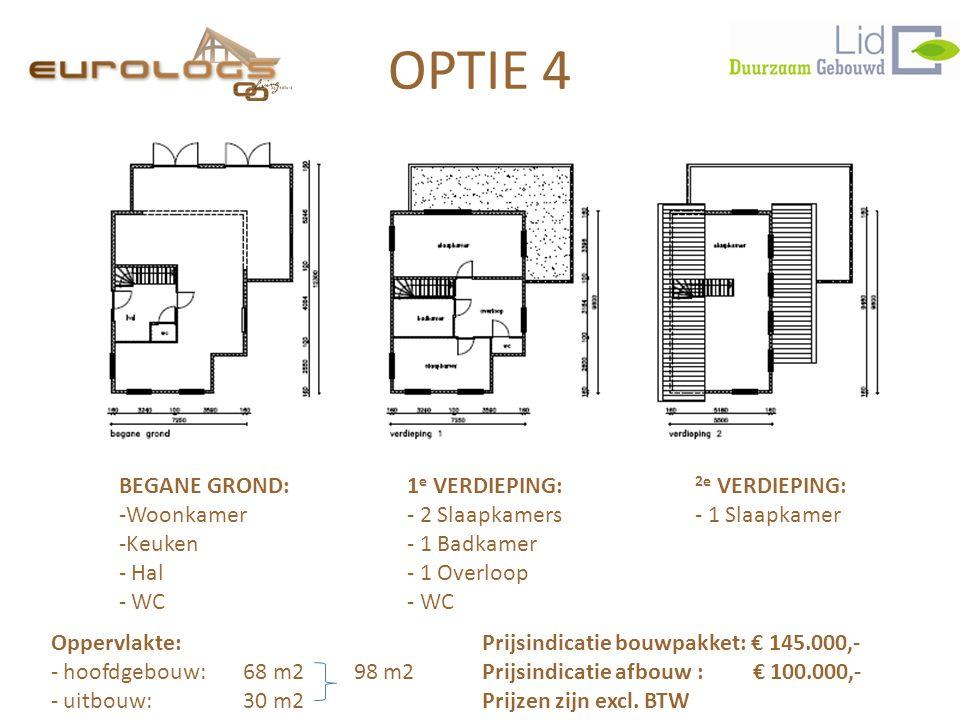 BEGANE GROND:1 e VERDIEPING: 2e VERDIEPING: -Woonkamer- 2 Slaapkamers- 1 Slaapkamer -Keuken- 1 Badkamer - Hal- 1 Overloop - WC- WC Prijsindicatie bouwpakket: € 145.000,- Prijsindicatie afbouw : € 100.000,- Prijzen zijn excl.