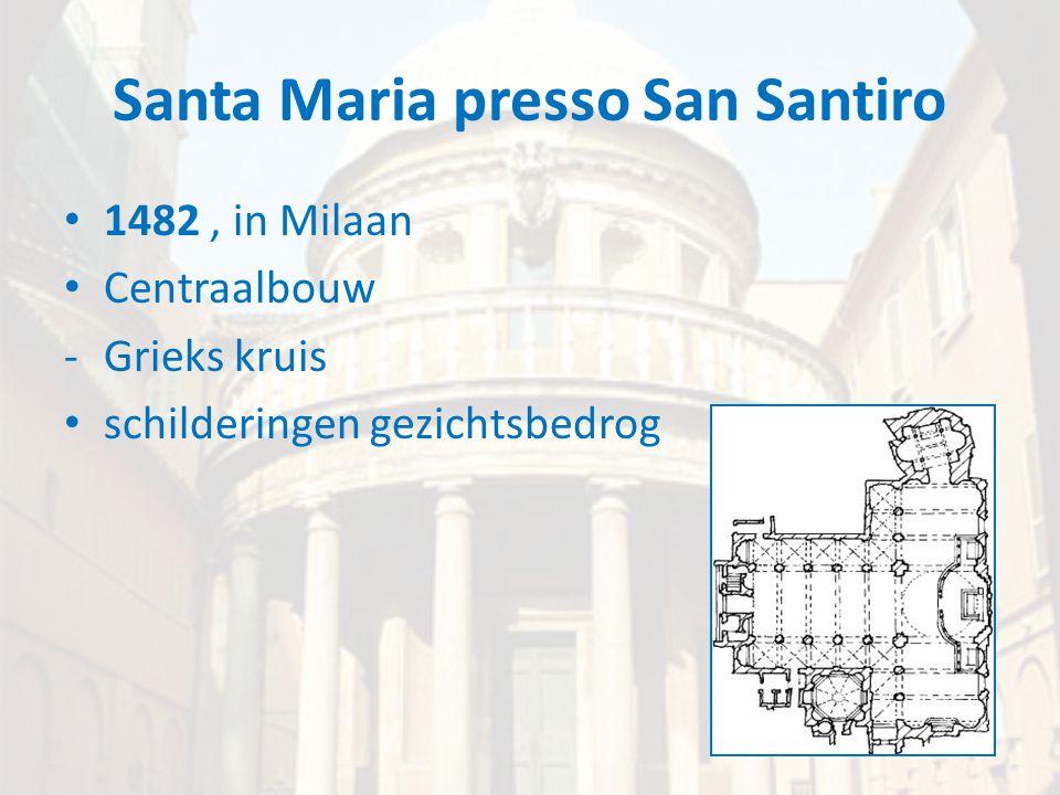 Santa Maria presso San Santiro • 1482, in Milaan • Centraalbouw -Grieks kruis • schilderingen gezichtsbedrog