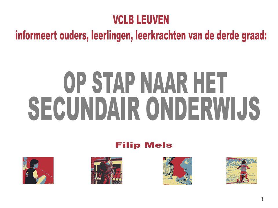82 In heel wat scholen: de BaSO-fiche  Ondersteuning van ouders bij de communicatie met de secundaire school  05-06 voor de eerste keer toegepast in Katholiek onderwijs Leuven  daarna verdergezet en uitbreiding naar andere regio's