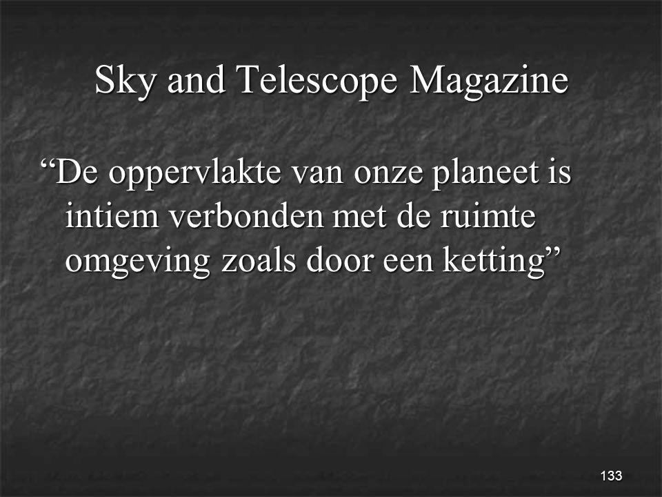 133 Sky and Telescope Magazine De oppervlakte van onze planeet is intiem verbonden met de ruimte omgeving zoals door een ketting
