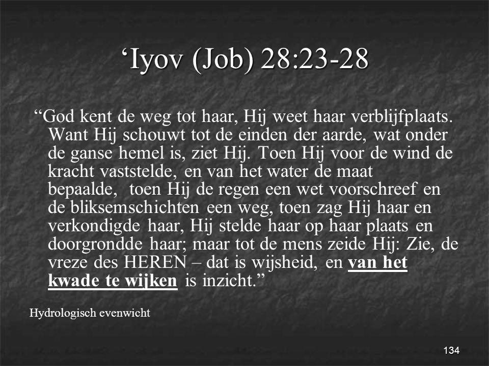 134 'Iyov (Job) 28:23-28 God kent de weg tot haar, Hij weet haar verblijfplaats.