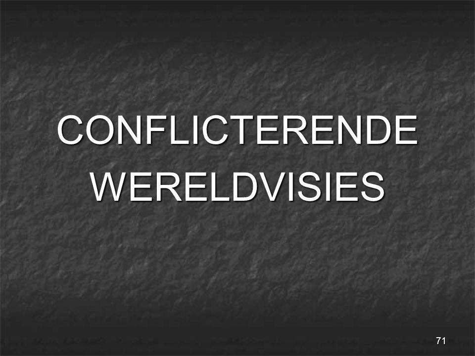 71 CONFLICTERENDEWERELDVISIES