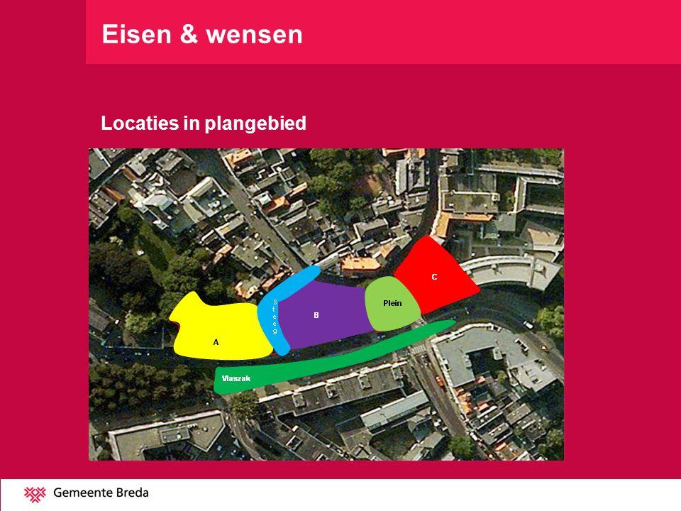 Eisen & wensen Locaties in plangebied