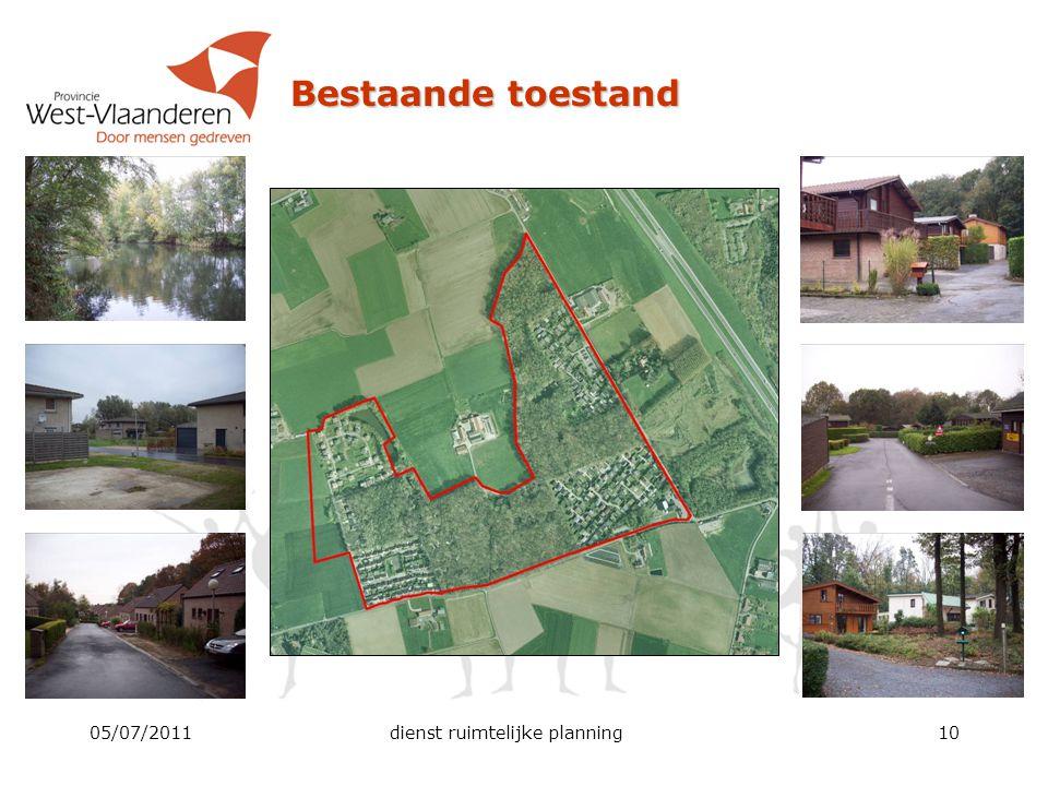 05/07/2011dienst ruimtelijke planning10 Bestaande toestand