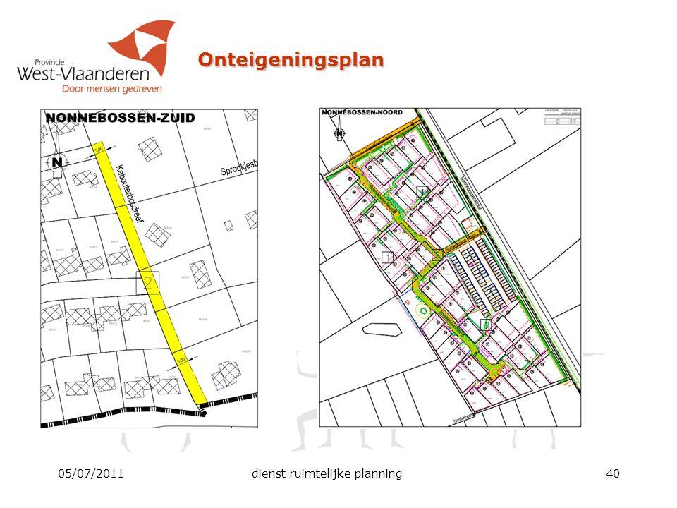 Onteigeningsplan 05/07/2011dienst ruimtelijke planning40