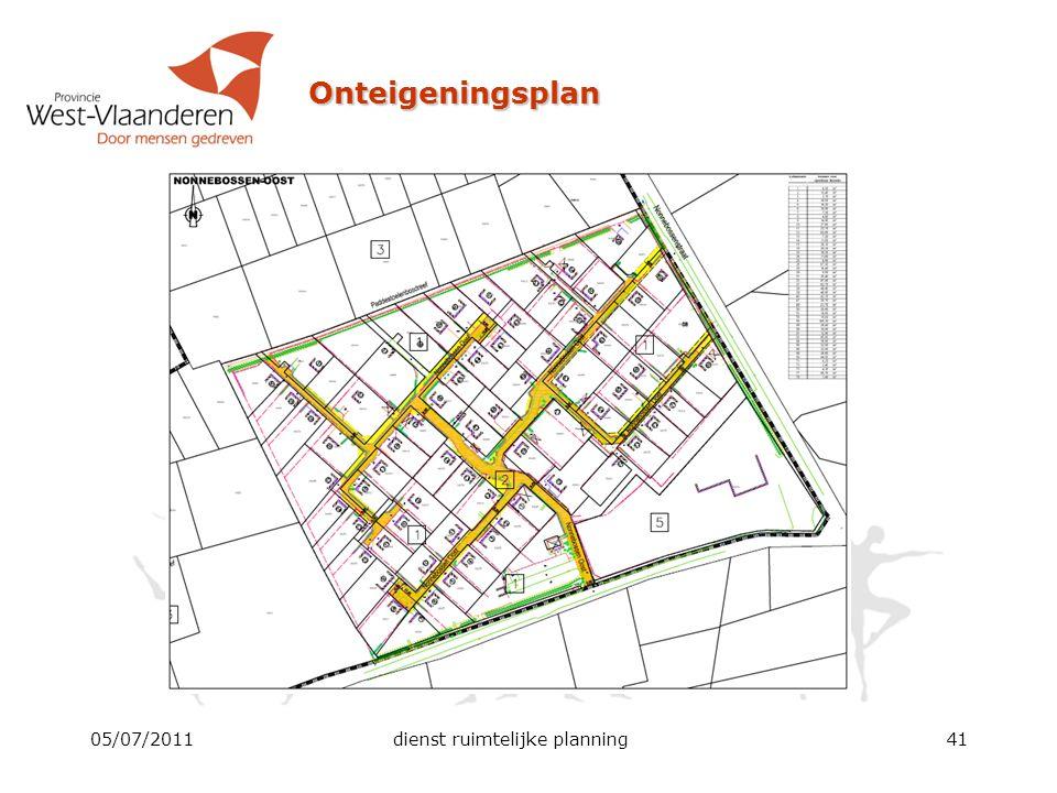 Onteigeningsplan 05/07/2011dienst ruimtelijke planning41