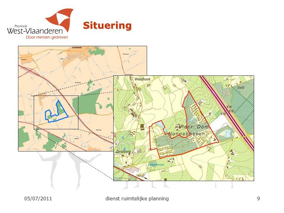 Bestemmingsplan en voorschriften Zone voor recreatief wonen  Inrichting en beheer  Totale oppervlakte gebouwen en verhardingen max.