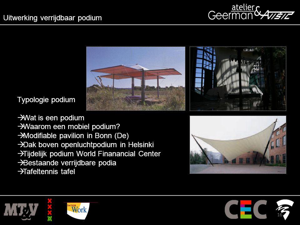 Typologie podium  Wat is een podium  Waarom een mobiel podium.
