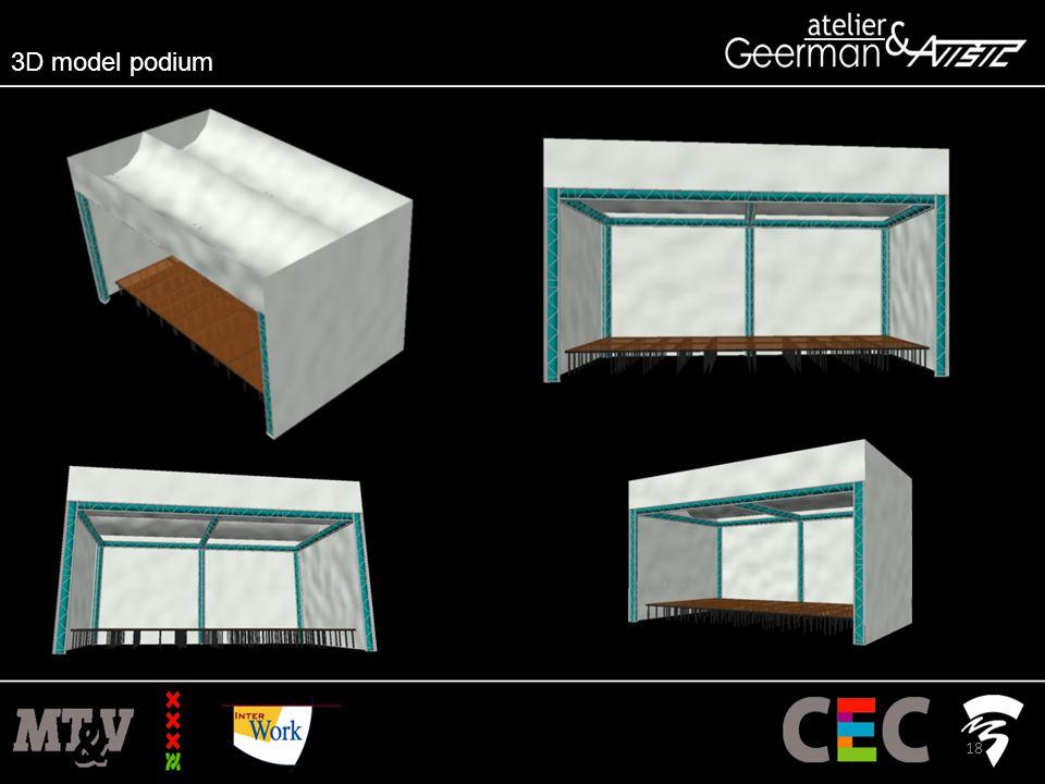 3D model podium 18