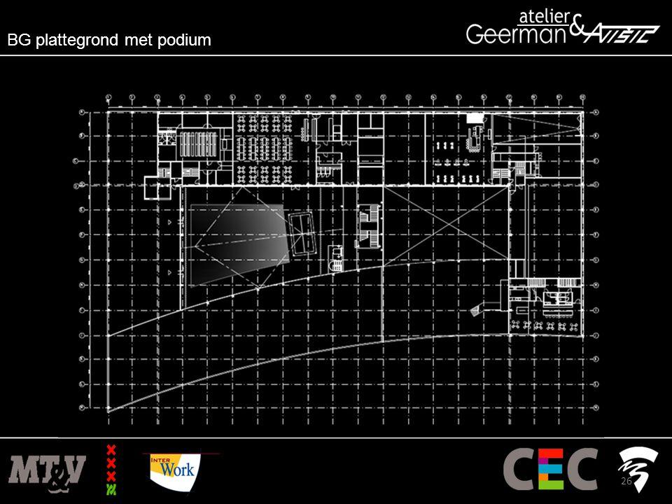 BG plattegrond met podium 26