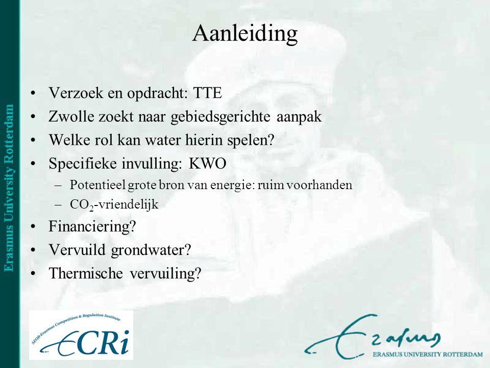 Aanleiding •Verzoek en opdracht: TTE •Zwolle zoekt naar gebiedsgerichte aanpak •Welke rol kan water hierin spelen.