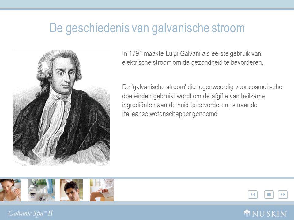 In 1791 maakte Luigi Galvani als eerste gebruik van elektrische stroom om de gezondheid te bevorderen.