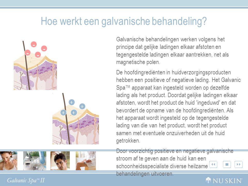Hoe werkt een galvanische behandeling.