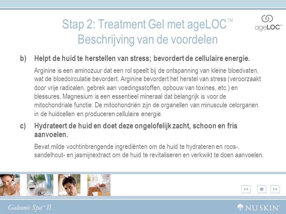 b)Helpt de huid te herstellen van stress; bevordert de cellulaire energie.