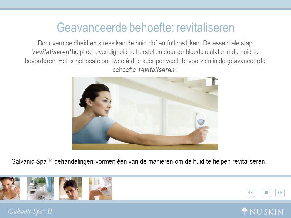 Het Nu Skin ® Galvanic Spa ™ System II Dankzij het Galvanic Spa™ System II met vier verwisselbare conductors voor het gezicht, de hoofdhuid en het lichaam kunt u thuis profiteren van schoonheidsbehandelingen zoals in een spa.
