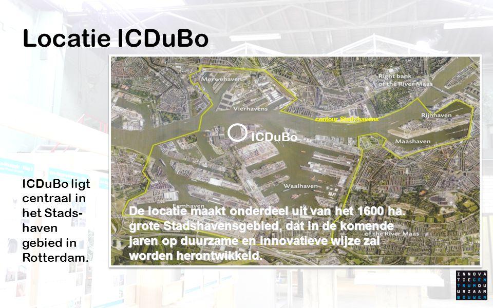 Innovatie Centrum Duurzaam Bouwen RDM Campus ICDuBo ICDuBo maakt onderdeel uit van de RDM Campus.