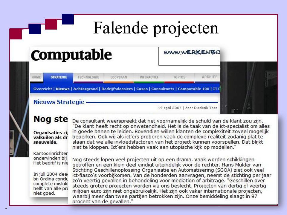 Wie heeft InFraMe nodig.•Architectuur & projecten in sync.