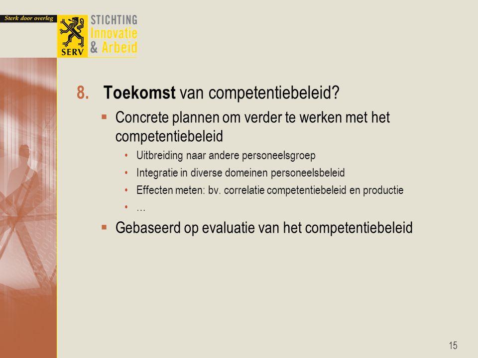8.Toekomst van competentiebeleid.
