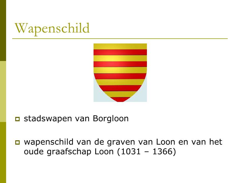 Wapenschild  stadswapen van Borgloon  wapenschild van de graven van Loon en van het oude graafschap Loon (1031 – 1366)