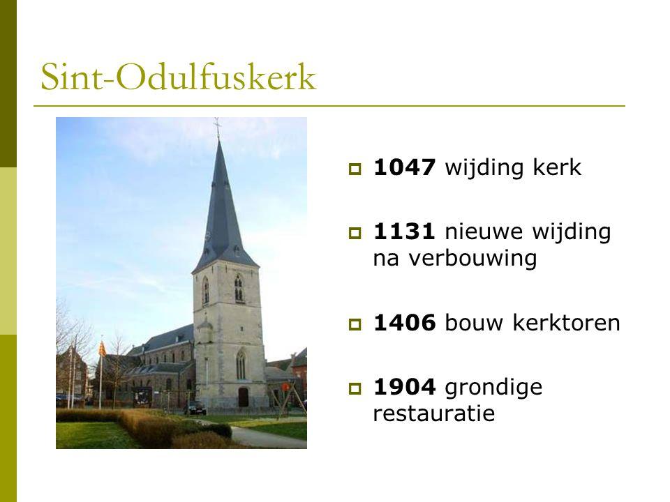 Sint-Odulfuskerk  1047 wijding kerk  1131 nieuwe wijding na verbouwing  1406 bouw kerktoren  1904 grondige restauratie