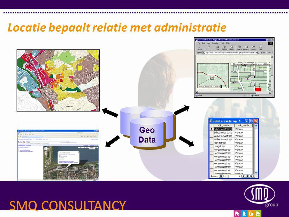 Locatie bepaalt relatie met administratie Geo Data