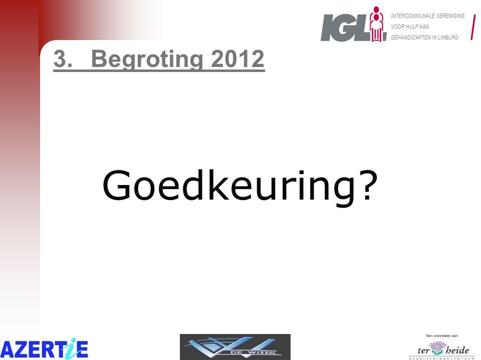 3.Begroting 2012 Goedkeuring