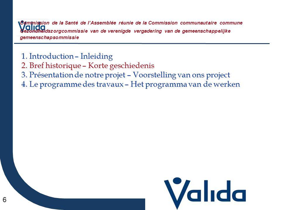 6 1. Introduction – Inleiding 2. Bref historique – Korte geschiedenis 3.