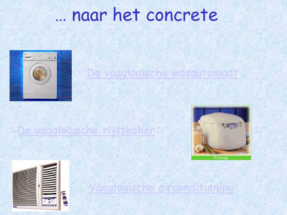 … naar het concrete De vaaglogische rijstkoker Vaaglogische airconditioning De vaaglogische wasautomaat