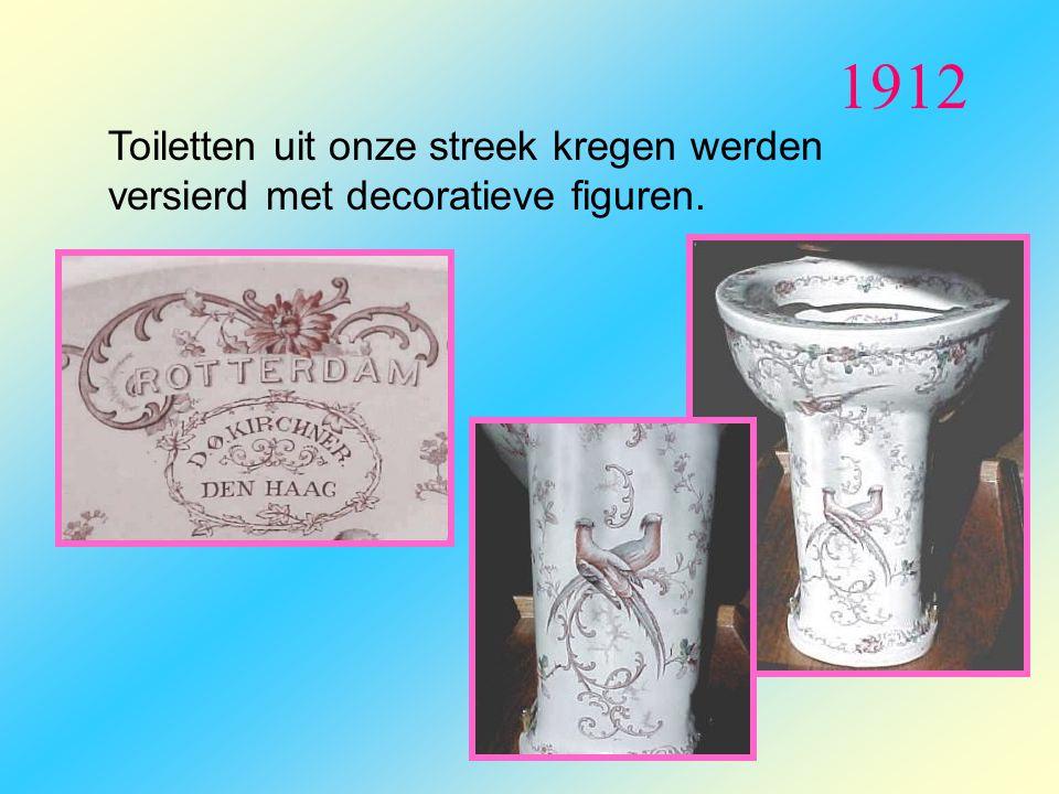 1912 Toiletten uit onze streek kregen werden versierd met decoratieve figuren.