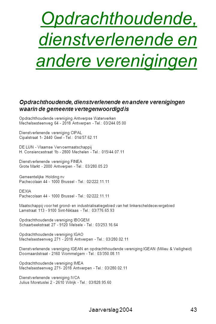 Jaarverslag 200442 Eredienst Rooms – katholieke eredienst Kerkfabriek Heilig Kruis Voorzitter: Herman Crommelinck Secretaris: Vera Van Hassel Penningm