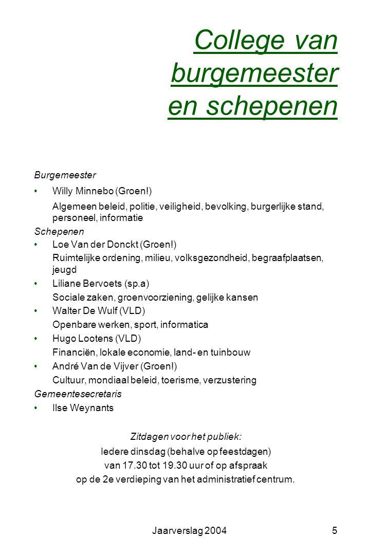 Jaarverslag 200475 Sportdienst Organisatie van de sportdienst, eventueel in samenwerking met een derde Eéndaagse activiteiten