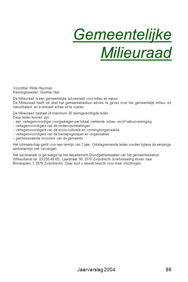 Jaarverslag 200485 Openbare werken Wegenwerken  Nieuwland - wegentracé van de wegen-, riolerings- en omgevingswerken.  Heraanleg voetpaden Ernest Cl