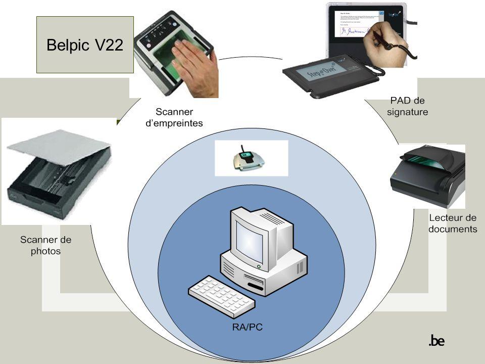 7 Biometrie: Biometrische Pack Gefinancierd door de federale overheidGefinancierd door de gemeente  een scanner om foto's in te scannen;  een scanner om vingerafdrukken af te nemen;  een « sign pad » die dient om de handtekening van de aanvrager te registreren ;  een contactloze chiplezer die toelaat de RFID chip van de nieuwe generatie verblijfskaarten,uit te lezen.