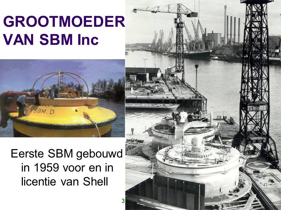 35 JAAR IRO 26 GROOTMOEDER VAN SBM Inc Eerste SBM gebouwd in 1959 voor en in licentie van Shell