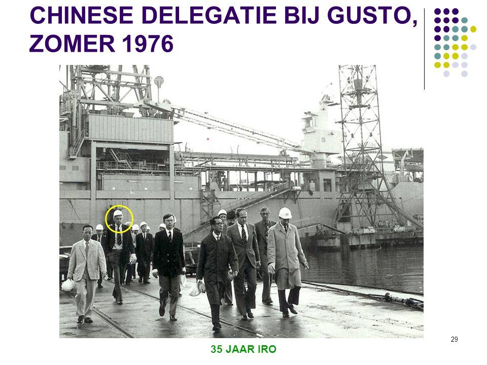 35 JAAR IRO 29 CHINESE DELEGATIE BIJ GUSTO, ZOMER 1976