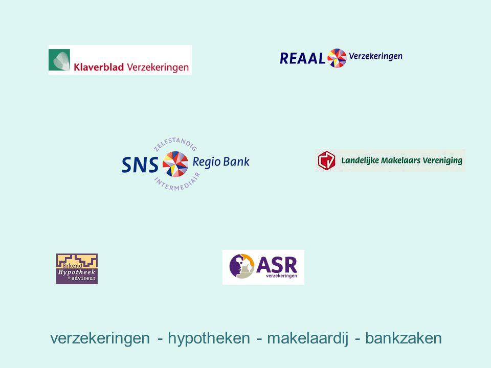verzekeringen - hypotheken - makelaardij - bankzaken