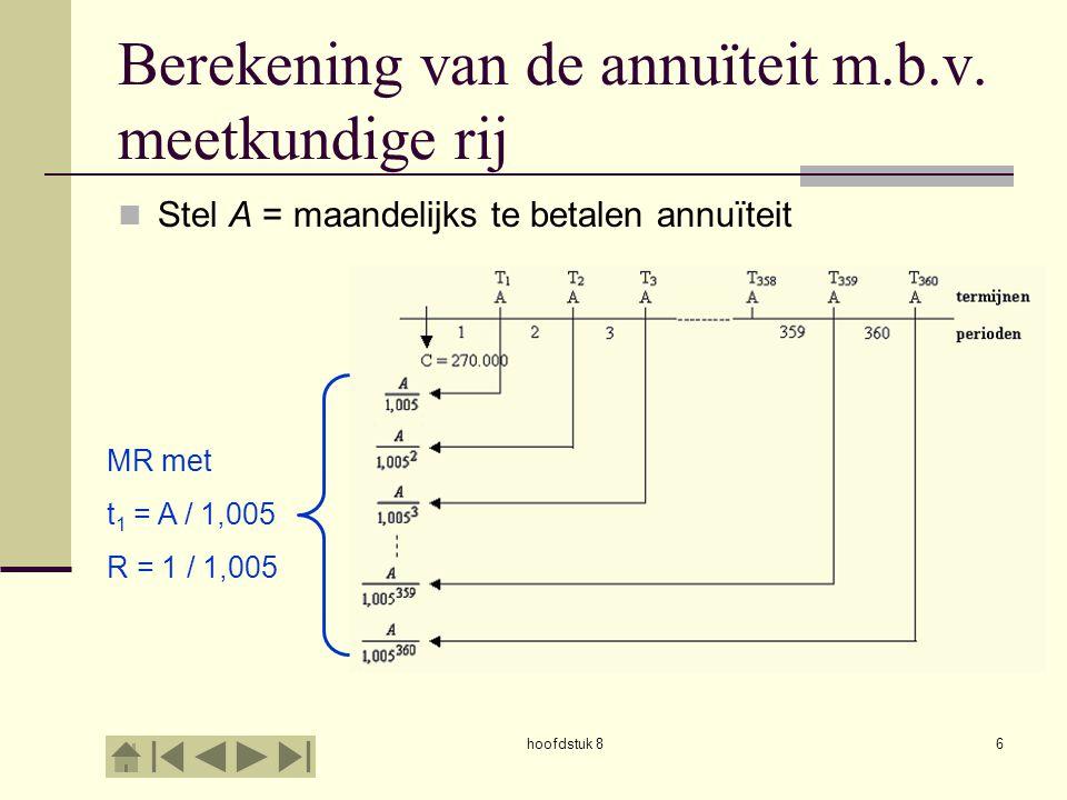 hoofdstuk 86 Berekening van de annuïteit m.b.v.