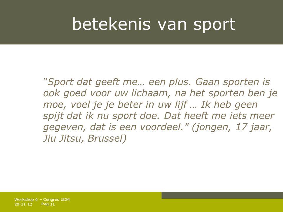 Pag.betekenis van sport Sport dat geeft me… een plus.