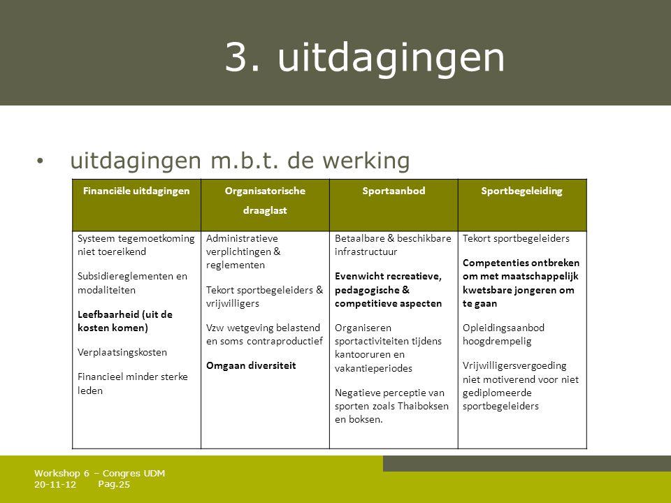 Pag.3. uitdagingen • uitdagingen m.b.t.