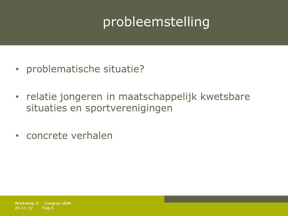 Pag.probleemstelling • problematische situatie.