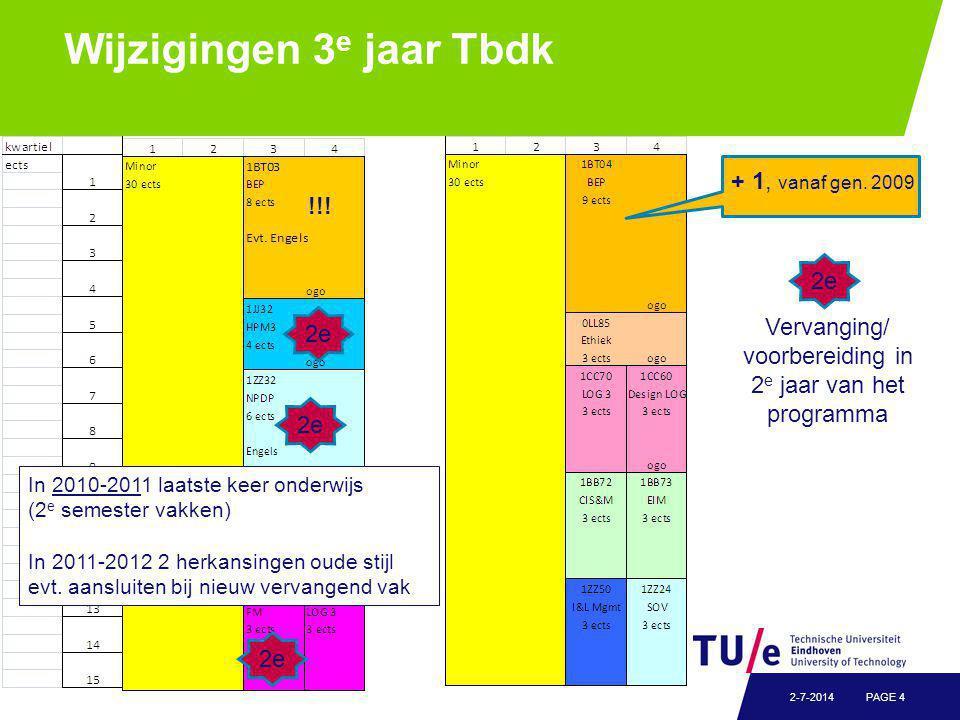 Wijzigingen 3 e jaar Tbdk PAGE 42-7-2014 + 1, vanaf gen.