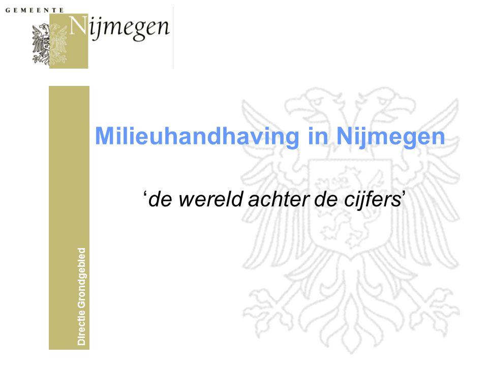 Directie Grondgebied Milieuhandhaving in Nijmegen 'de wereld achter de cijfers'