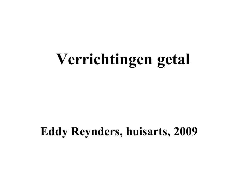 Verrichtingen getal Eddy Reynders, huisarts, 2009