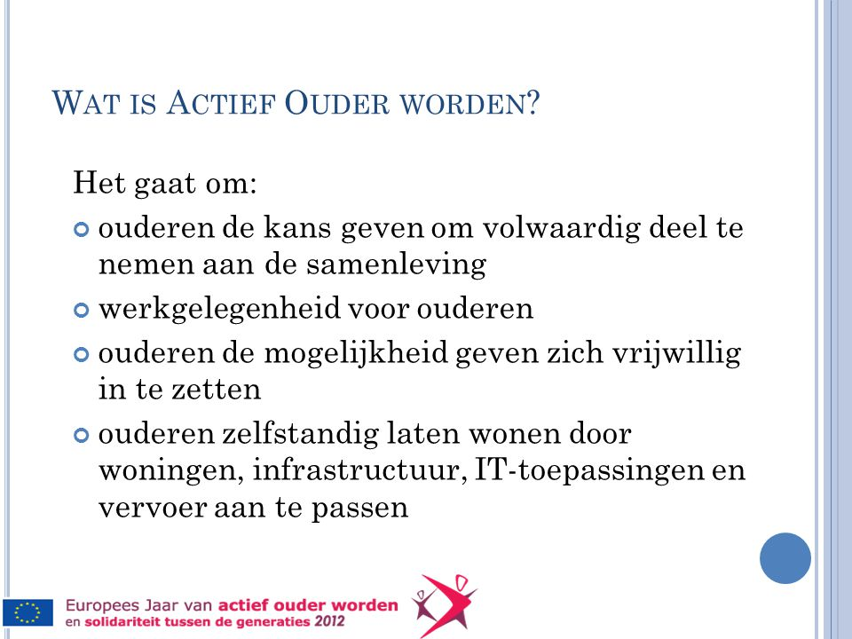 W AT IS A CTIEF O UDER WORDEN .