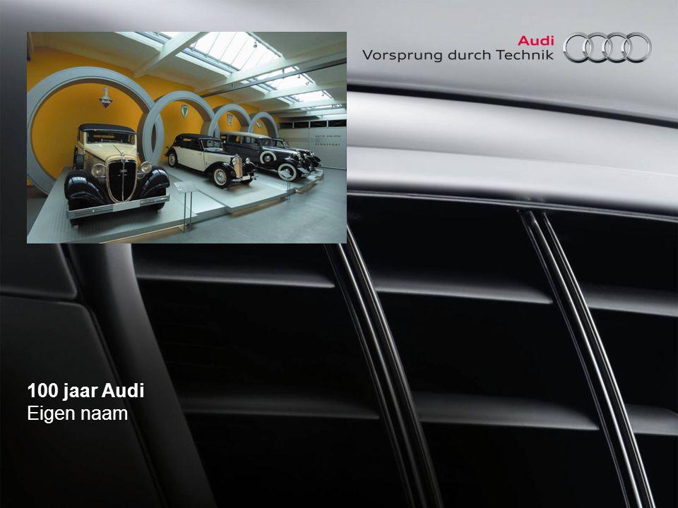 100 jaar Audi spreekbeurtpakket AUDI AG ►1985Naamsverandering: Audi NSU Auto Union AG wordt AUDI AG ►1993In de herfst van dit jaar komt de Audi Avant RS2 op de markt.