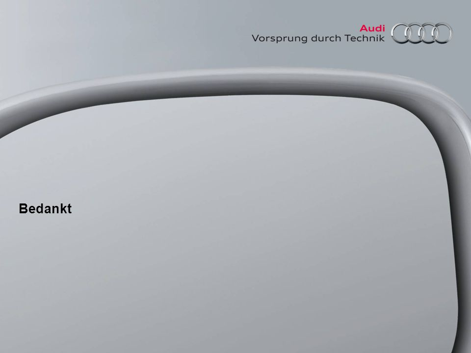 100 jaar Audi spreekbeurtpakket Bedankt